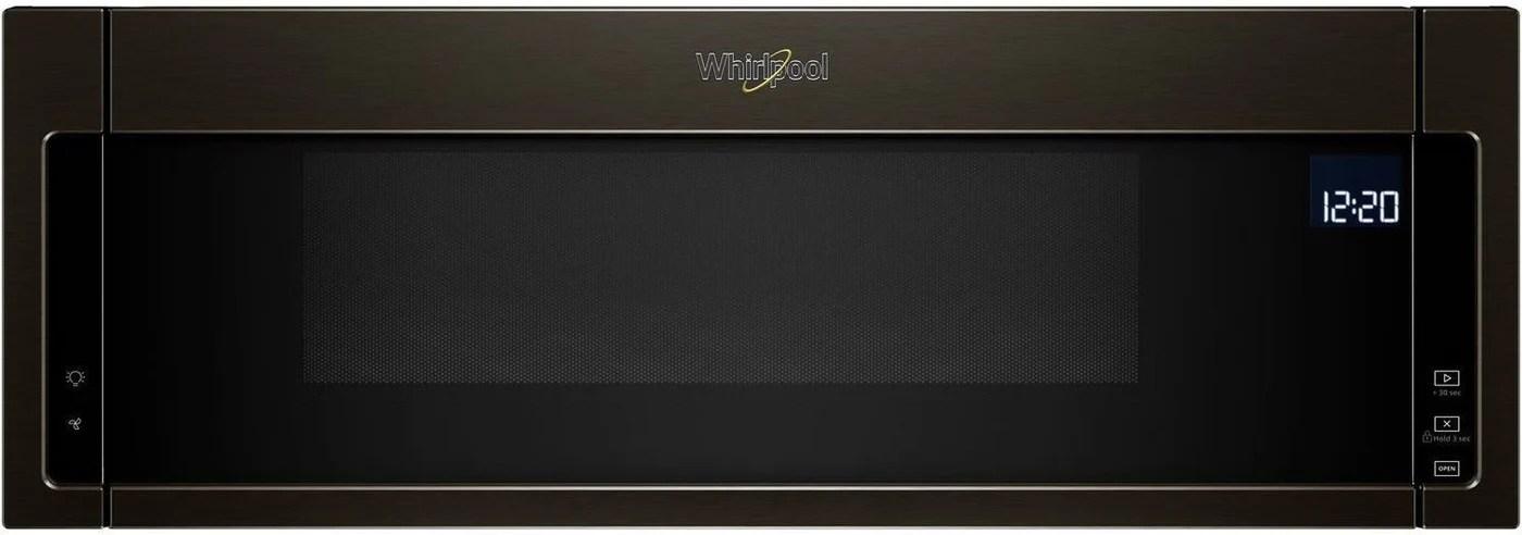 whirlpool black stainless steel over the range microwave hood combination 1 1 cu ft ywml75011hv