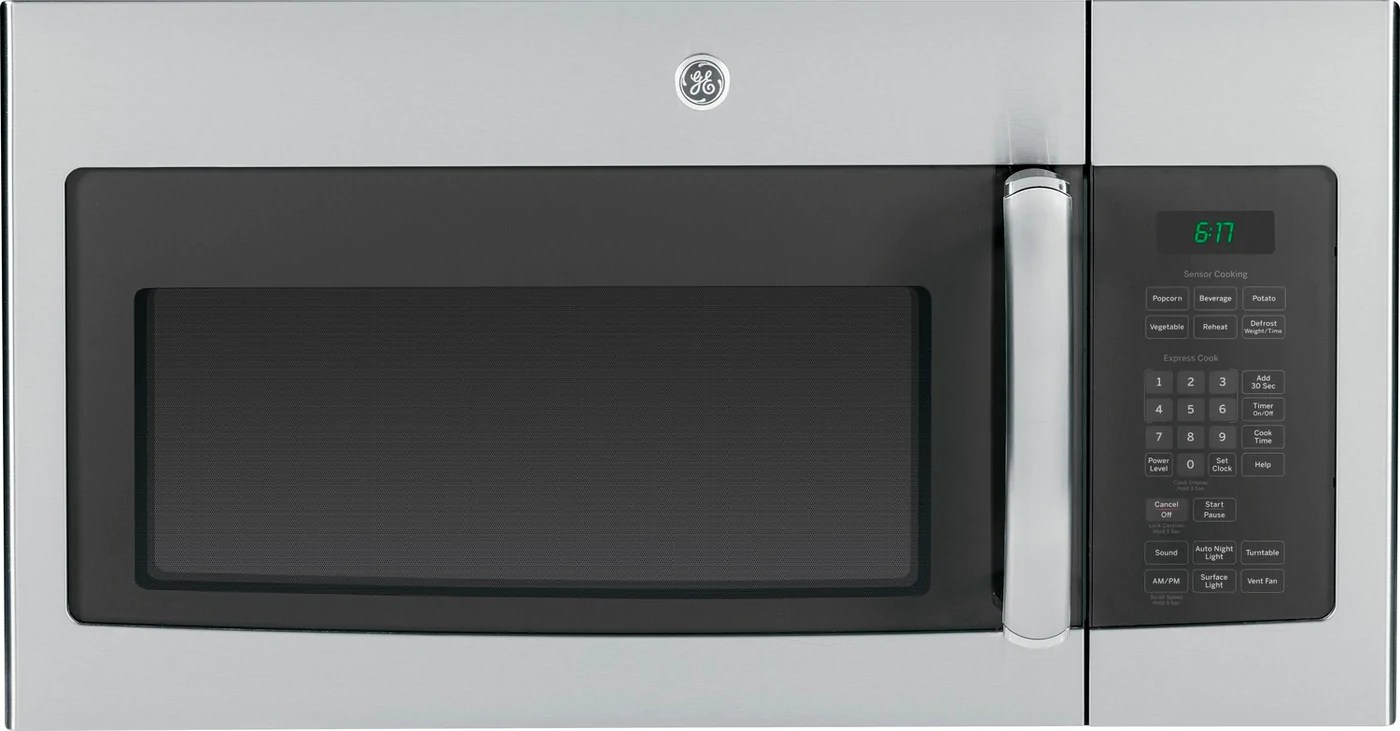 ge stainless steel over the range microwave 1 6 cu ft jvm1635sfc