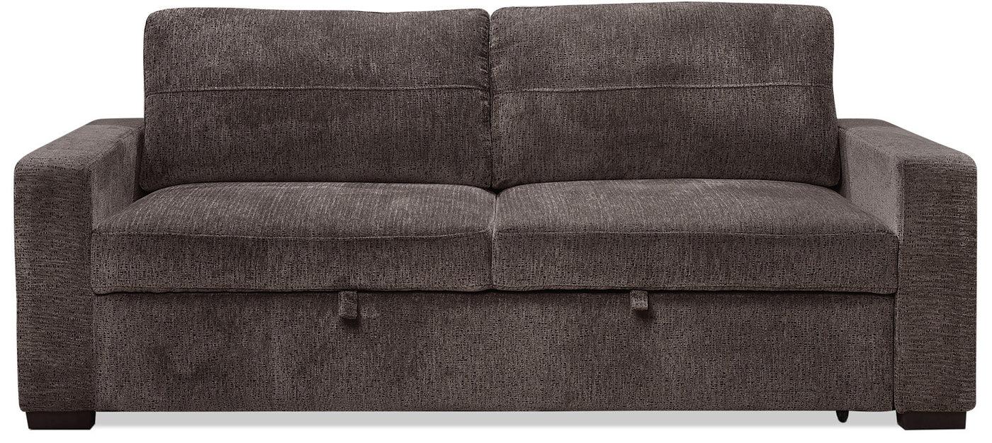 Conor Chenille Full Size Sleeper Sofa Ebony