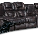 Hugo 5 Piece Genuine Leather Curved Power Reclining Sectional Brown