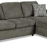Izzy 2 Piece Chenille Right Facing Sleeper Sectional Pewter The Brick