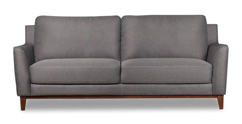 kamara linen look sofa grey