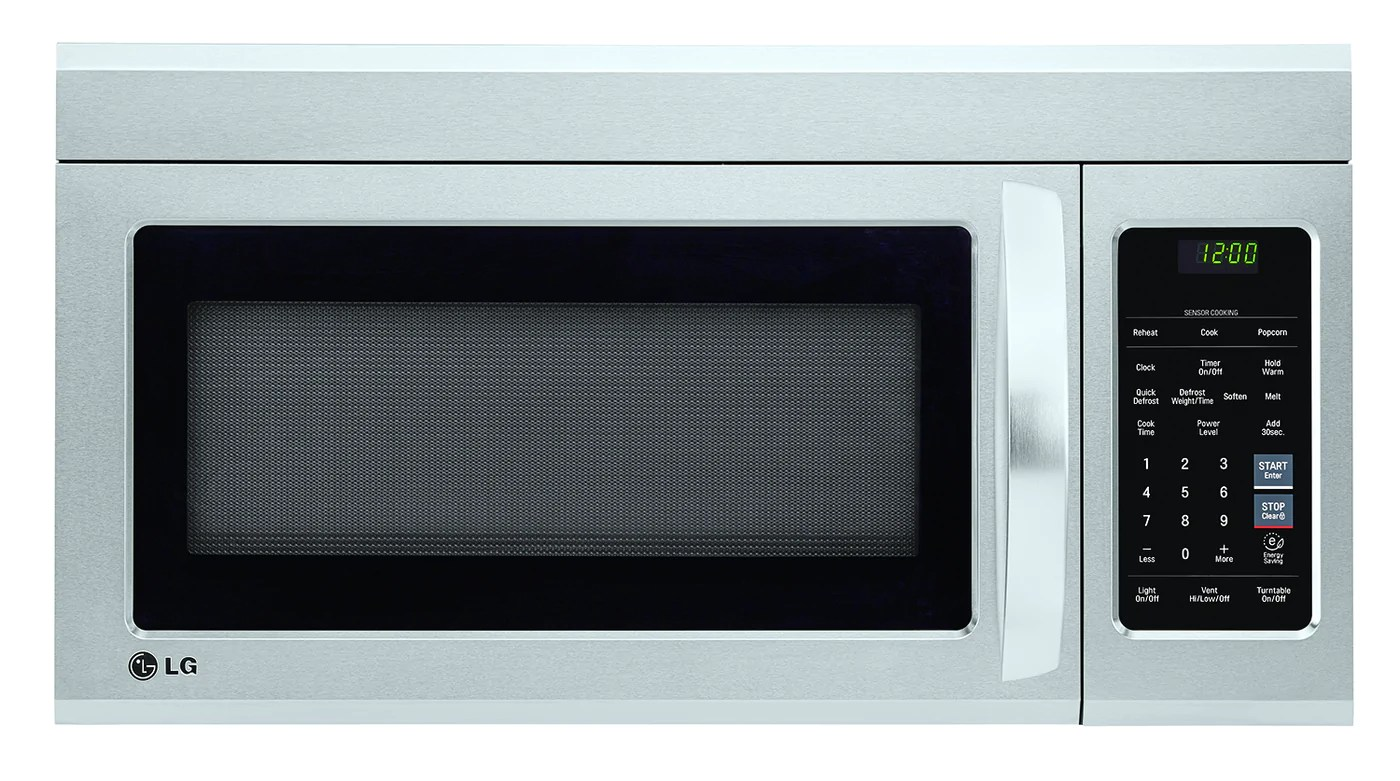 lg 1 8 cu ft over the range microwave lmv1852st