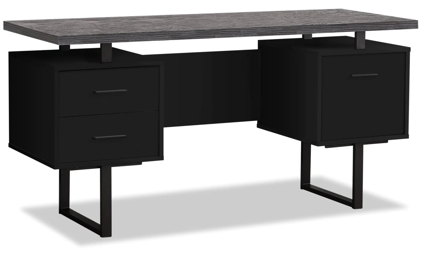 Orion 60 Computer Desk With File Drawer The Brick