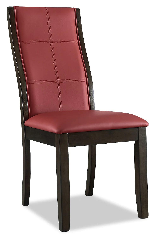 chaise de salle a manger tyler rouge