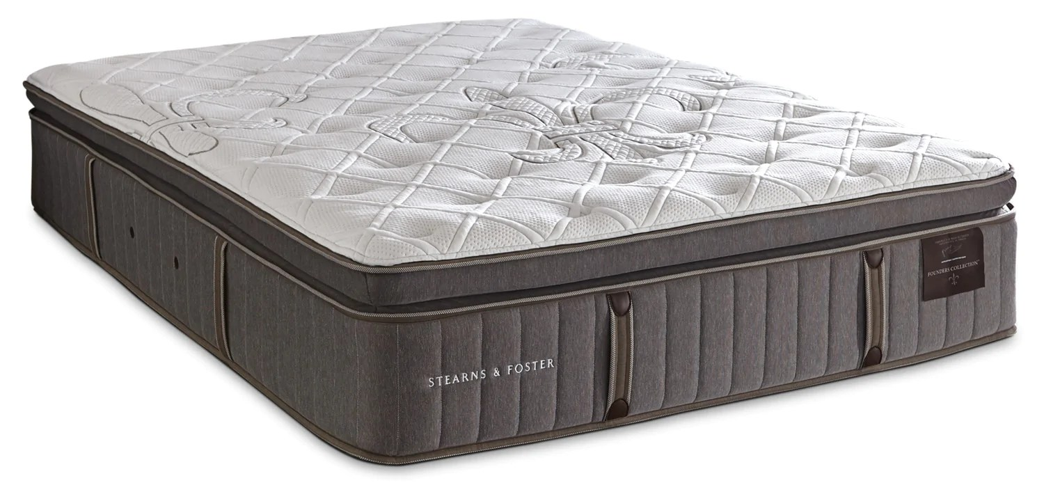 stearns foster eastminster pillow top king mattressmatelas a plateau coussin eastminster de stearns foster pour tres grand lit