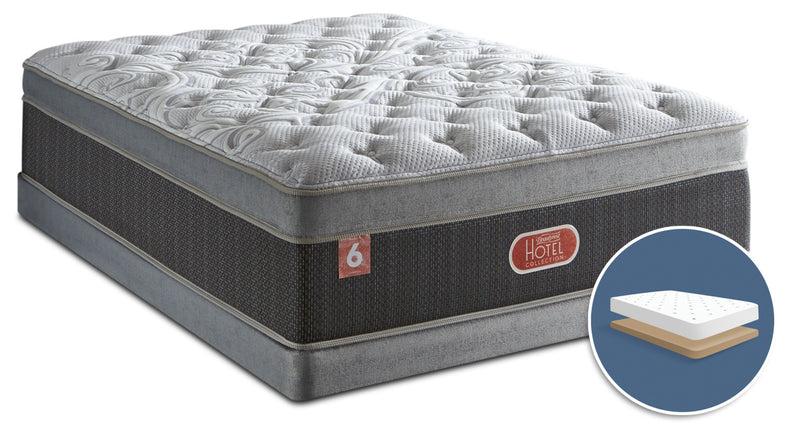 beautyrest hotel diamond 6 plush ultra euro top low profile king mattress set
