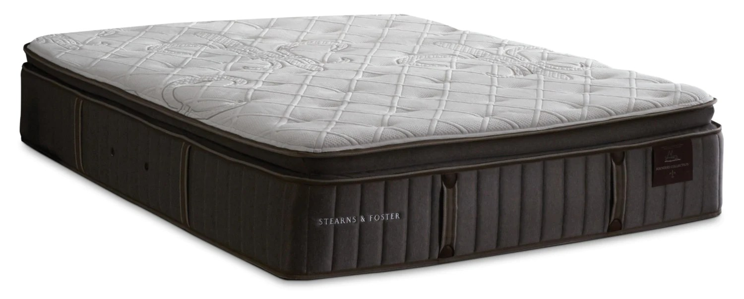 stearns foster princedale luxury firm pillow top queen mattressmatelas ferme a plateau coussin de luxe princedale de stearns foster pour grand lit