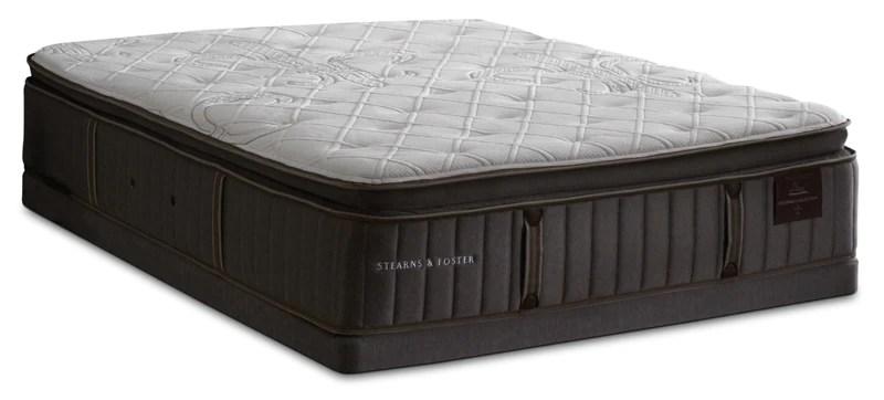 stearns foster princedale luxury firm pillow top king mattress set ensemble matelas ferme