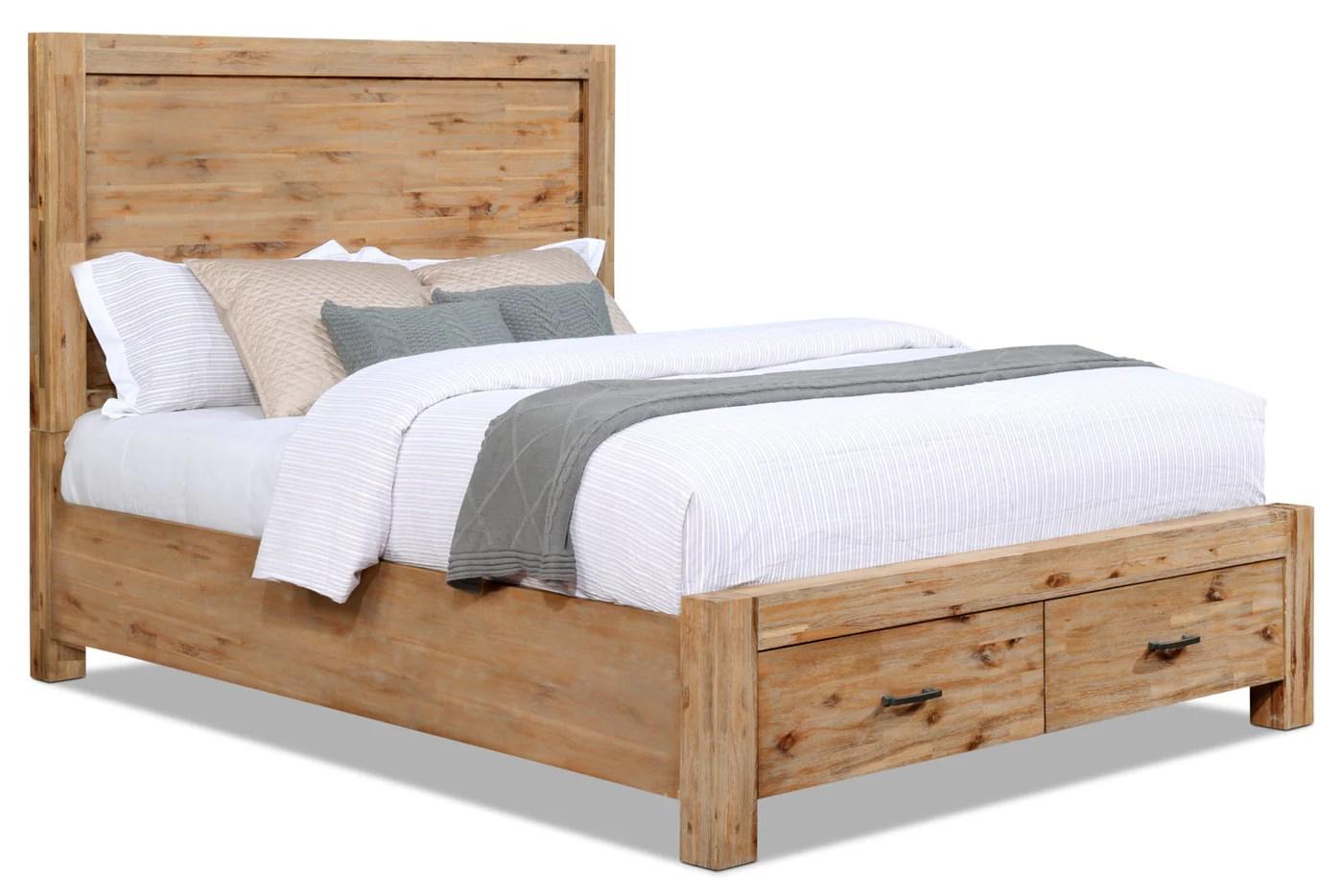 acadia queen storage bed