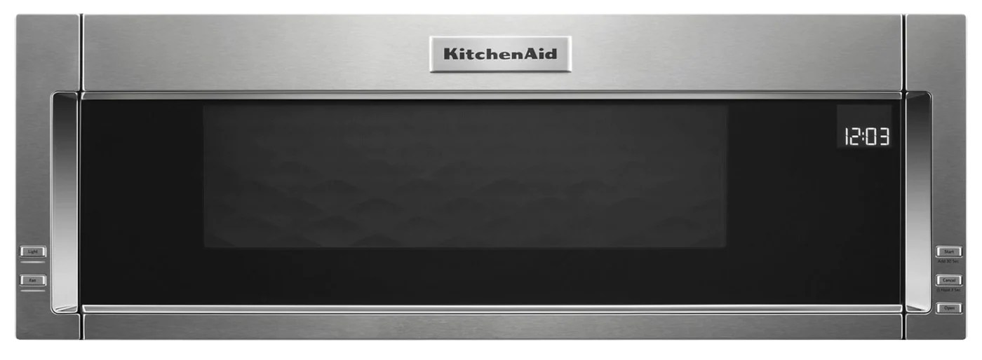 kitchenaid 1 1 cu ft low profile microwave hood combination ykmls311hss