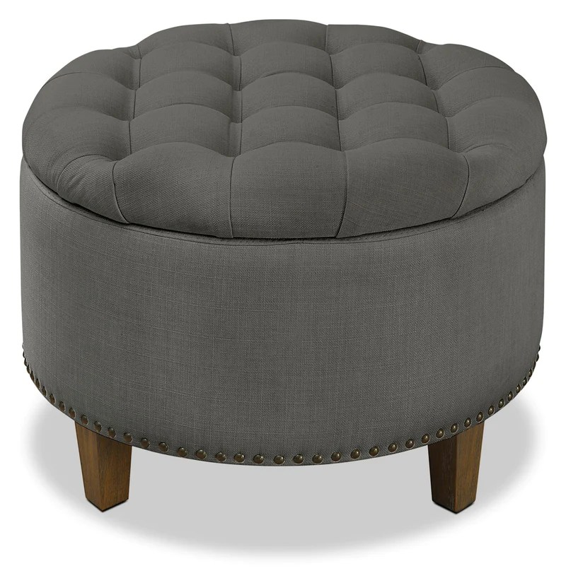 georgia storage ottoman grey pouf de rangement georgia gris