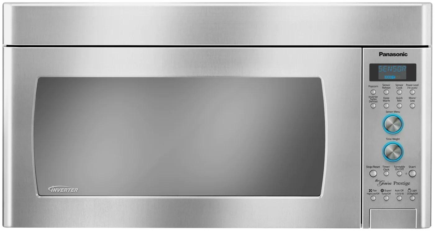 panasonic 2 0 cu ft inverter over the range microwave stainless steel