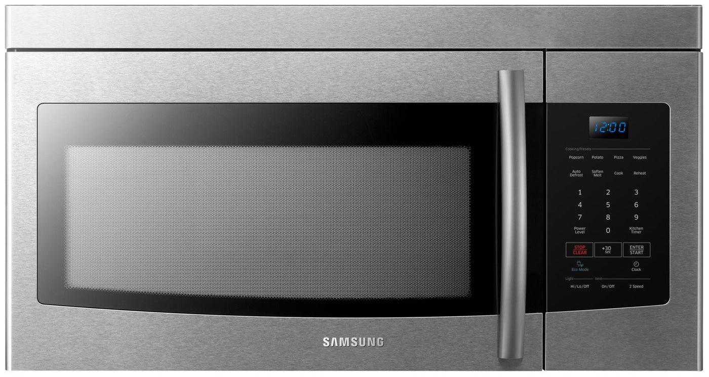 samsung 1 6 cu ft over the range microwave me16k3000as ac