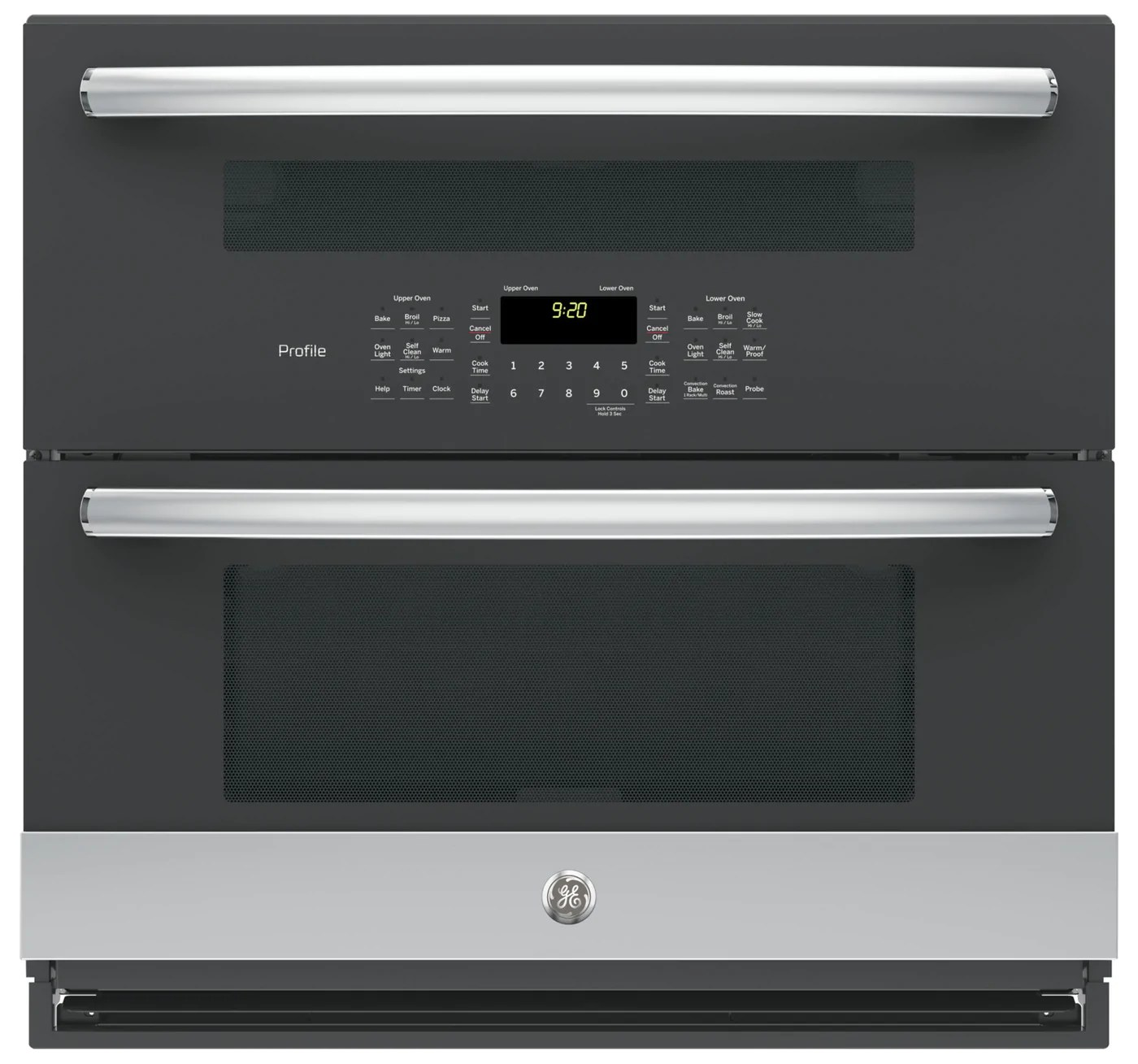 ge profile series 5 0 cu ft built in twin flex convection wall oven pt9200slss