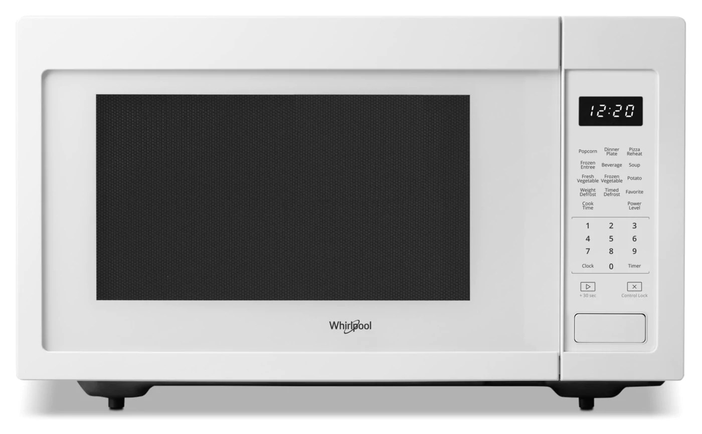 whirlpool 1 6 cu ft 21 75 in countertop microwave 1100 watts