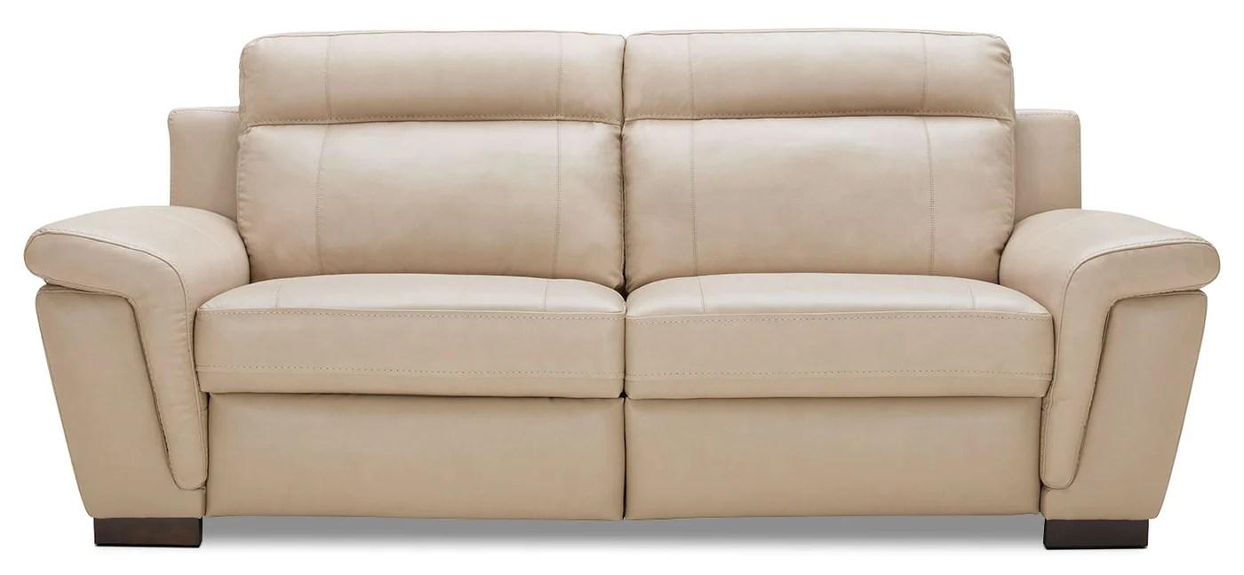 Seth Genuine Leather Power Reclining Sofa Rope