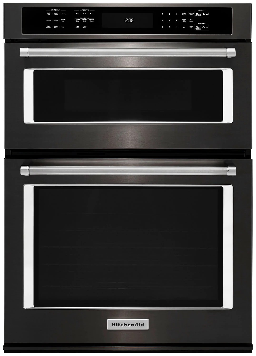 kitchenaid 27 combination wall oven with even heat true convection koce507ebs