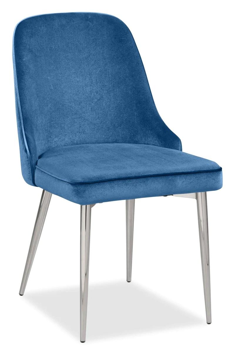 manhattan dining chair blue chaise de salle a manger manhattan bleue