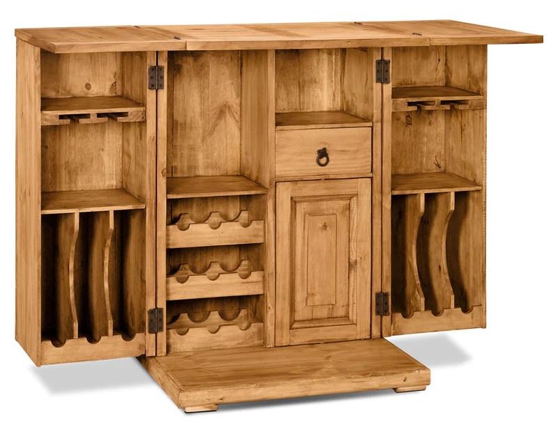 santa fe rusticos solid pine unfolding bar meuble de bar en pin massif de santa