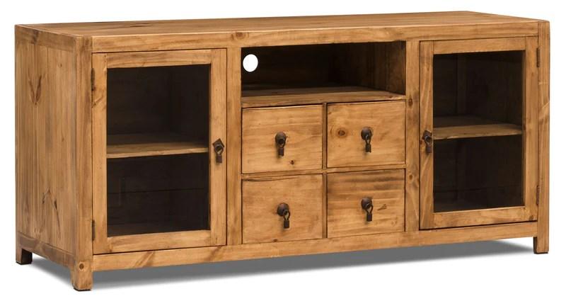 santa fe rusticos 59 solid pine tv stand meuble tv santa fe rusticos en