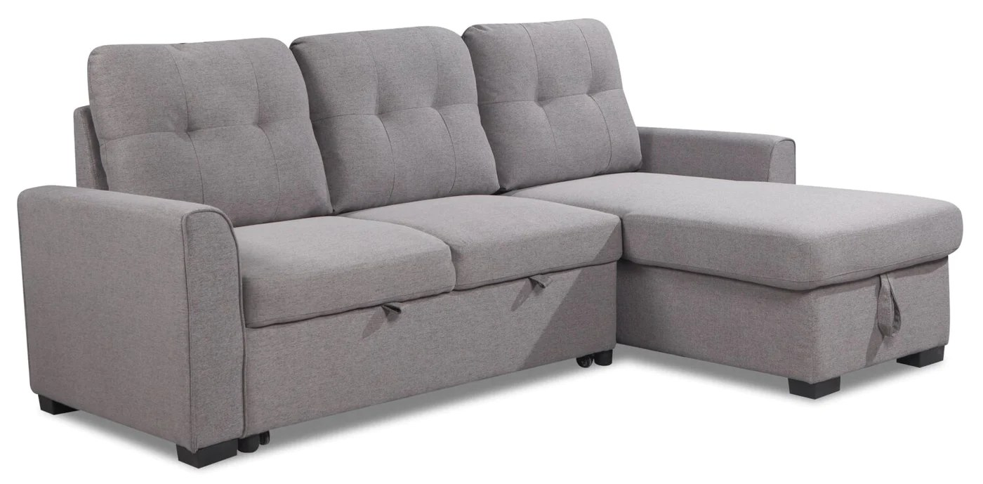 https www thebrick com products carter 2 piece right facing linen look fabric sleeper sectional solis grey