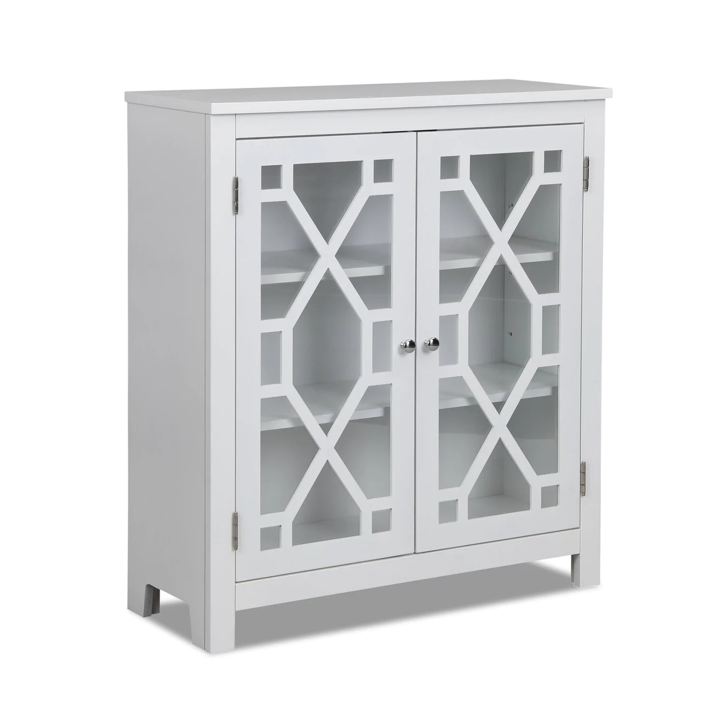 Clary Accent Cabinet White The Brick