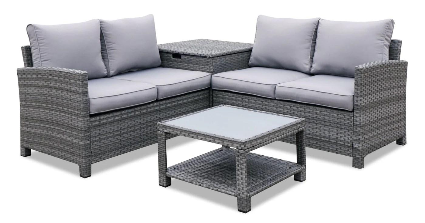 dominica 4 piece conversation patio set