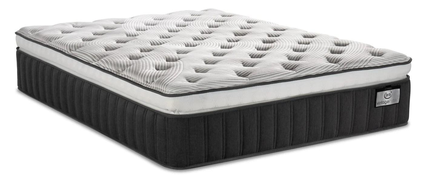 serta vintage hybrid symmetry super pillowtop queen mattress