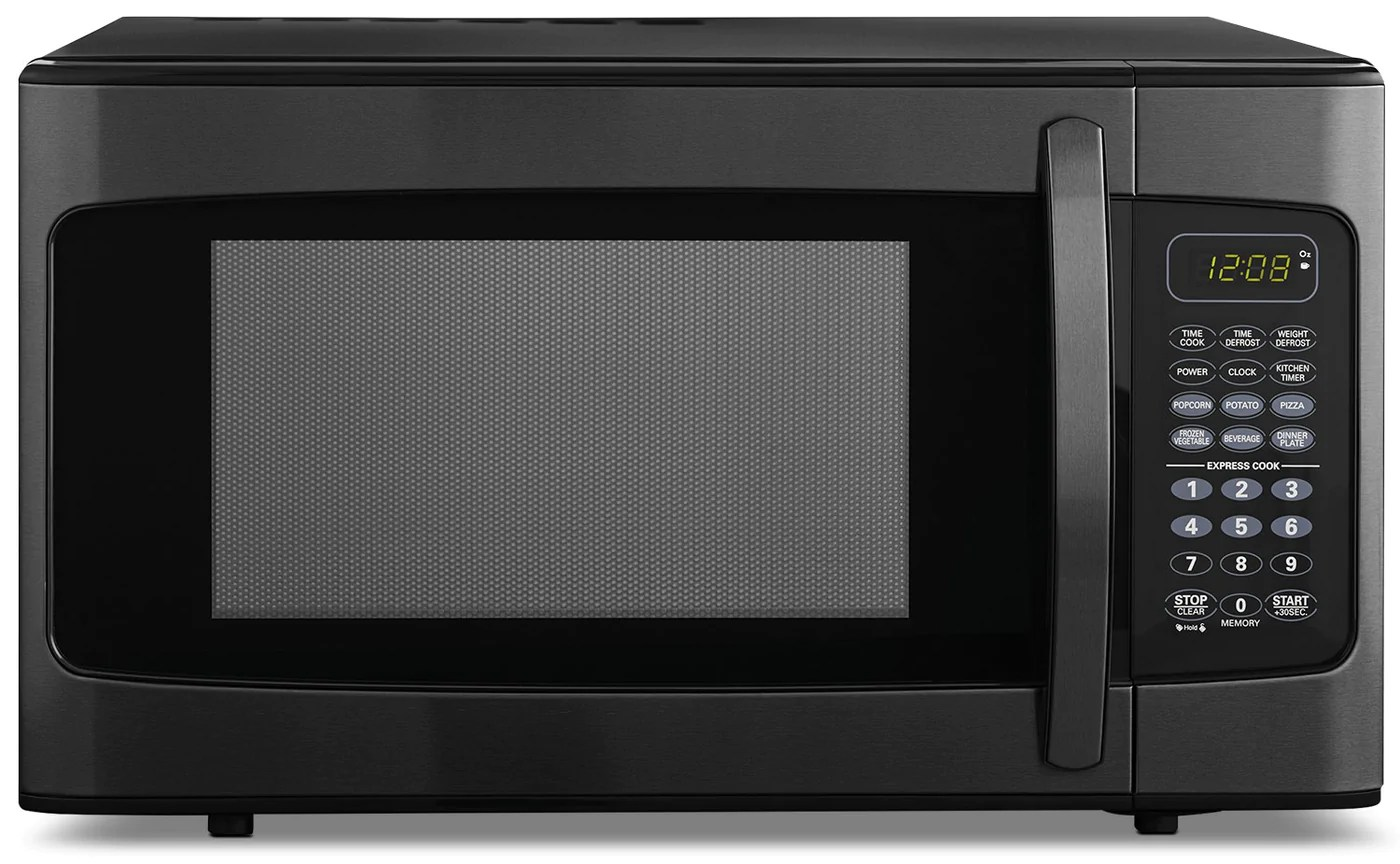 danby 1 1 cu ft countertop microwave dmw11b1bbsdb