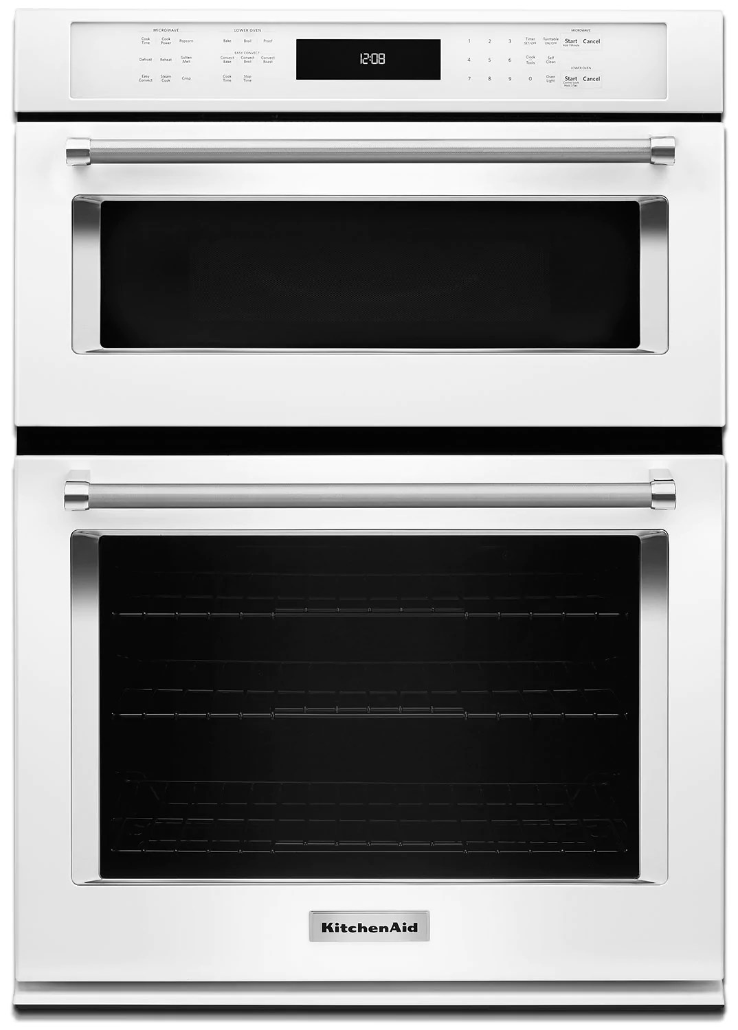 kitchenaid 30 double wall oven with microwave and conventional oven koce500ewh