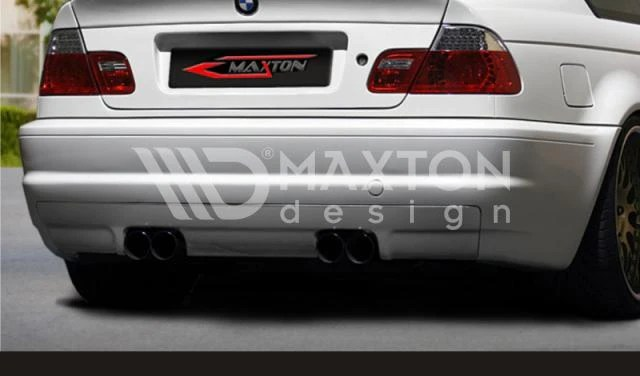 bmw 3 series e46 4 door sedan rear bumper m3 look with m3 exhaust vent