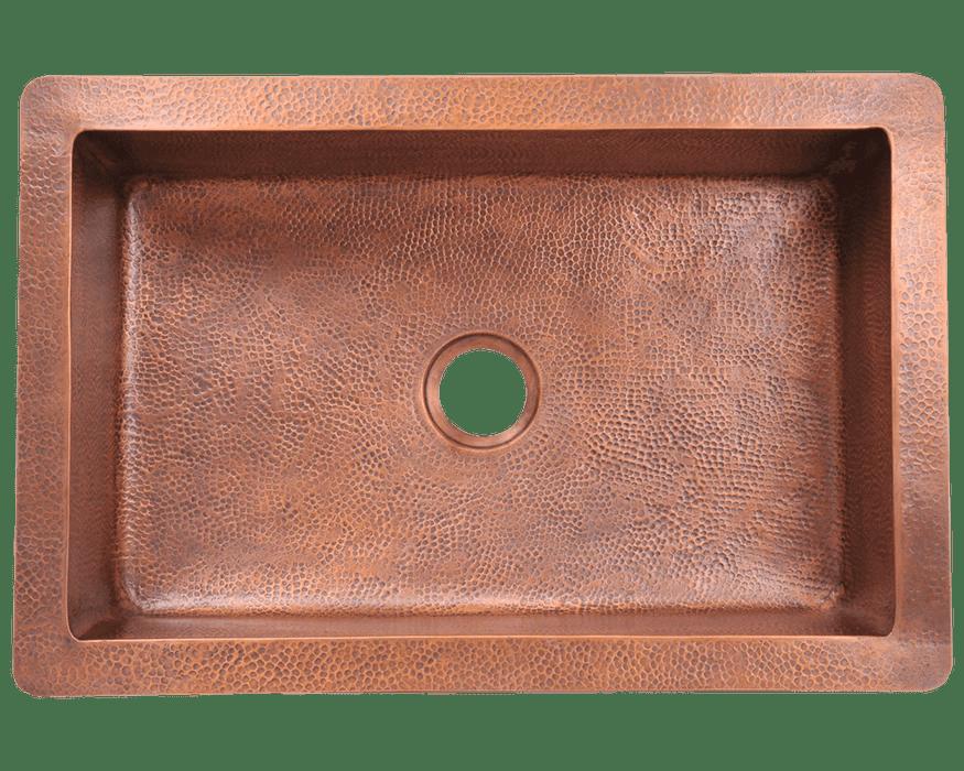 grand river 33 inch 16 gauge copper undermount sink