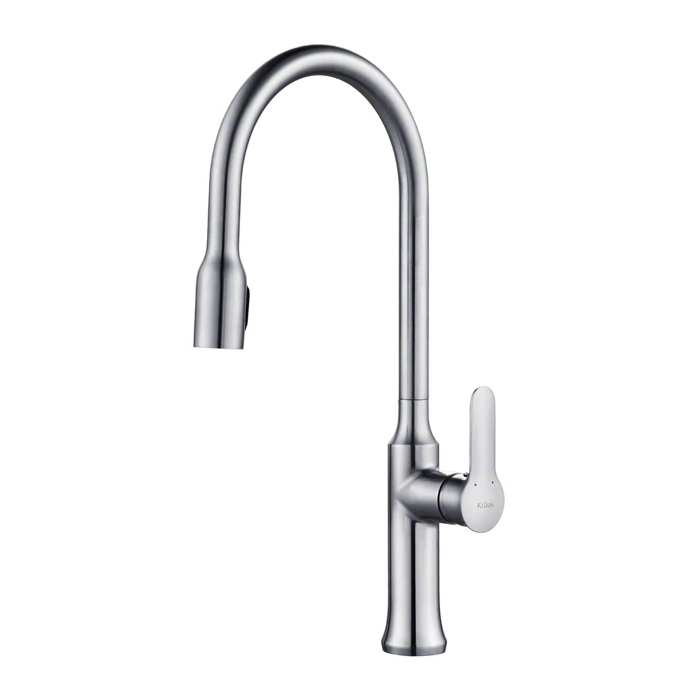 kraus kpf 1660ch nola single handle kitchen faucet with concealed pull down dual function sprayer in chrome