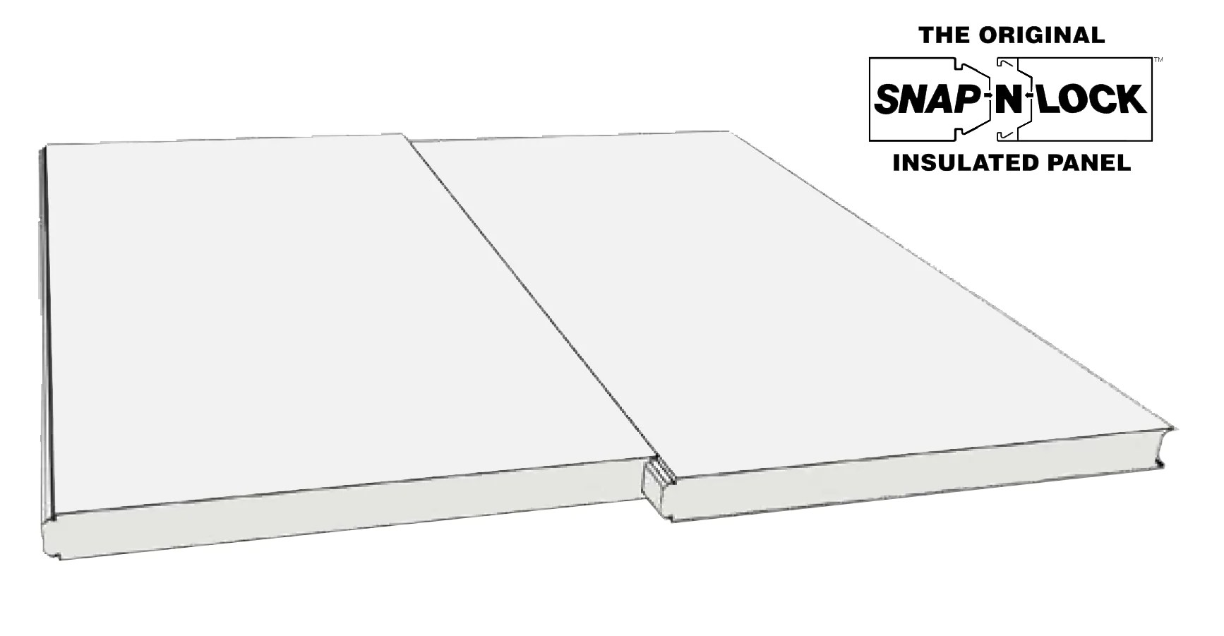 3 thick 4 x 8 insulated roof panel white