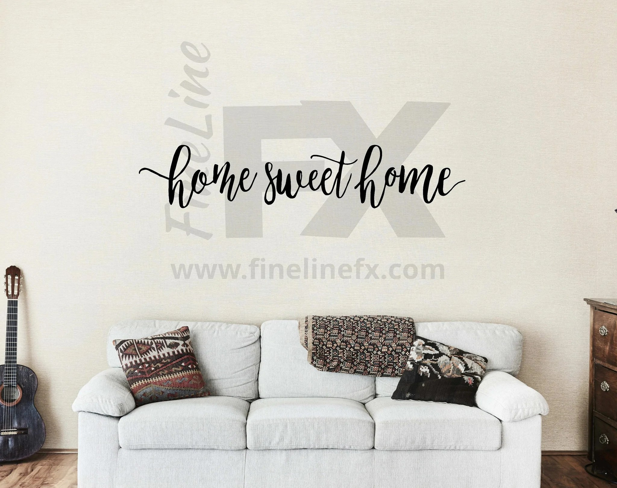 Home Sweet Home Wall Decal Vinyl Wall Decal Living Room Family Room Foyer Wall Decor