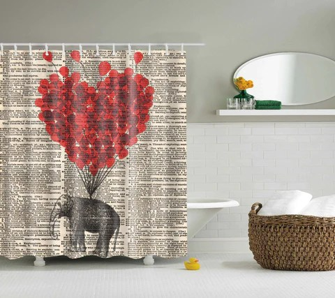elephant shower curtains collection