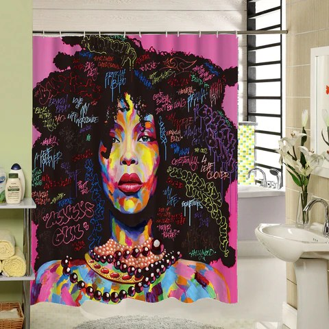 afro afrocentric shower curtains
