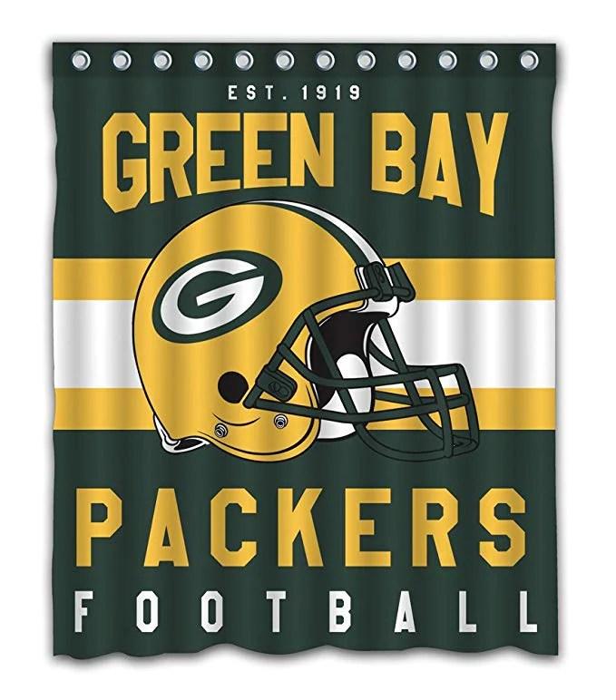 nfl football helm green bay packers duschvorhang gojeek