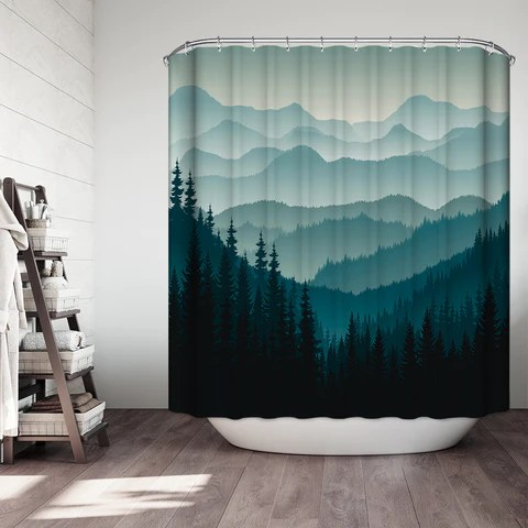 mountain shower curtain collection