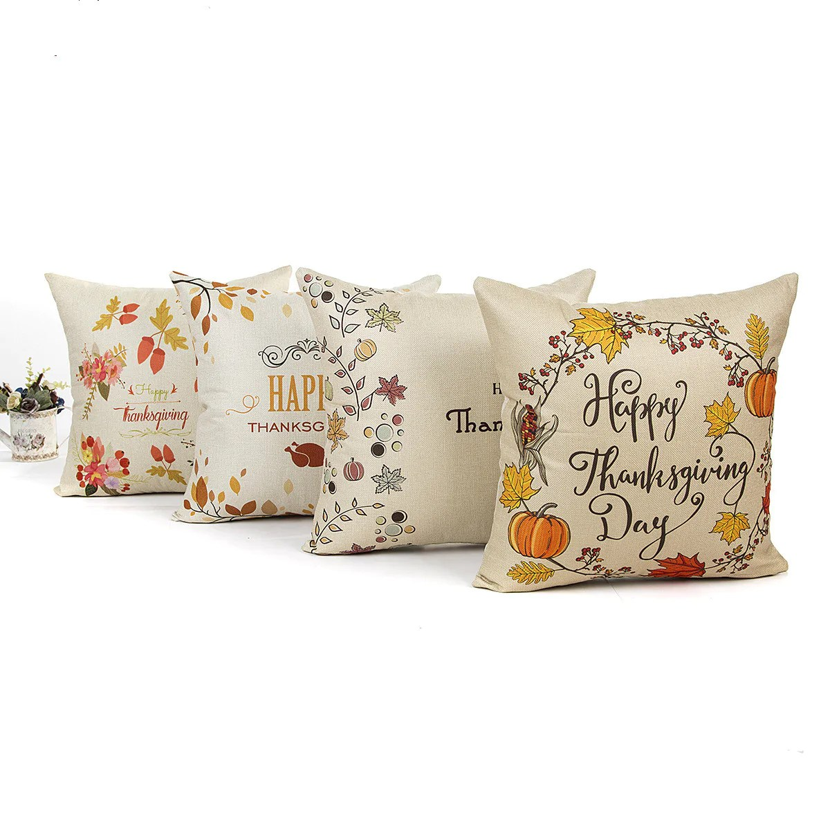 pumpkin with quotes thanksgiving day throw pillow cover sets gojeek