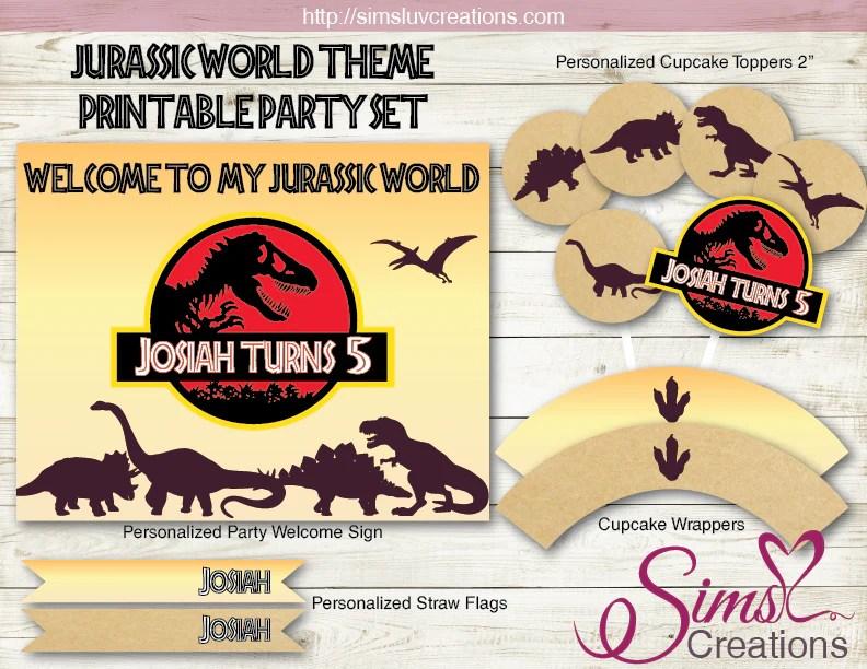 jurassic world birthday party decoration kit dinosaur silhouette party printables