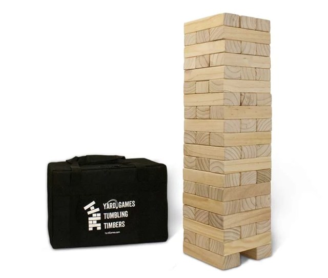 Giant Tumbling Timbers Giant Jenga For Events Parties Yardgames Com