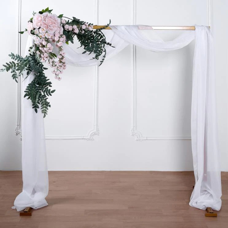 18ft white sheer organza curtain panels window scarf valance wedding arch draping fabric chaircoverfactory