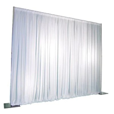 basic white backdrop includes white sheer curtains