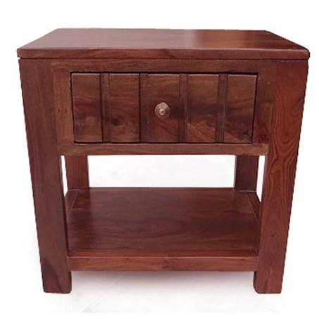 Walter Bed Side Table In Sheesham Wood Olivetheory