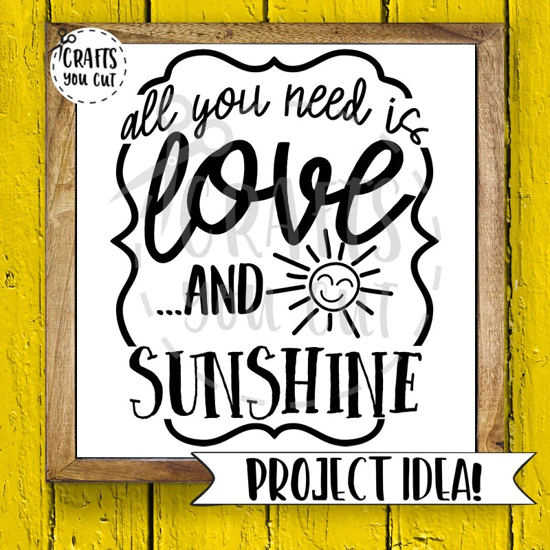 Download Summer SVG Cut File - All You Need Is Love And Sunshine ...