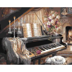 kit peinture a numero piano