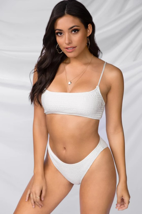 Blaze It Bikini Set - White 1