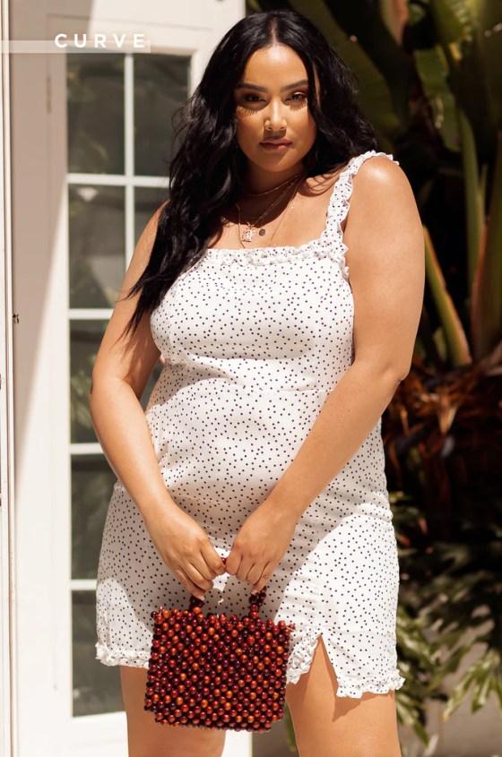 Soft Talk Mini Dress - White 1